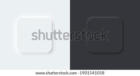 3d vector buttons neumorphic
