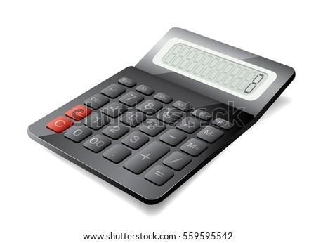 3d vector calculator isolated white background