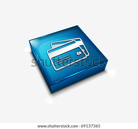 3d vector credit cards icon design element.