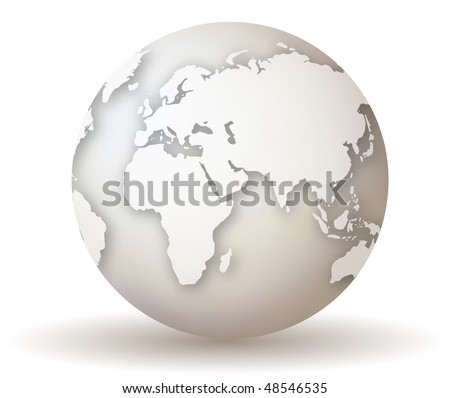 3D Vector Earth Globe - stock vector