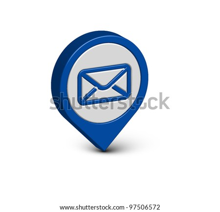 3d vector email icon web design element.