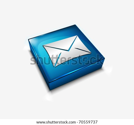 3d vector glossy email web icons design element.