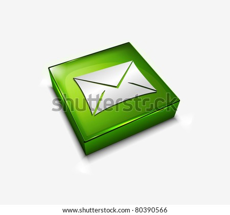 3d vector glossy email web icons design element. - stock vector