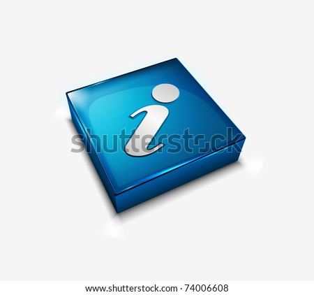 3d vector glossy Information web icon design element.