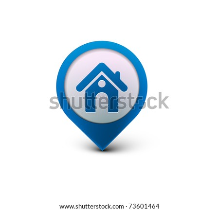 3d vector home icon design with isolated on black.