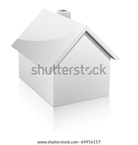 3d vector illustration of a small house