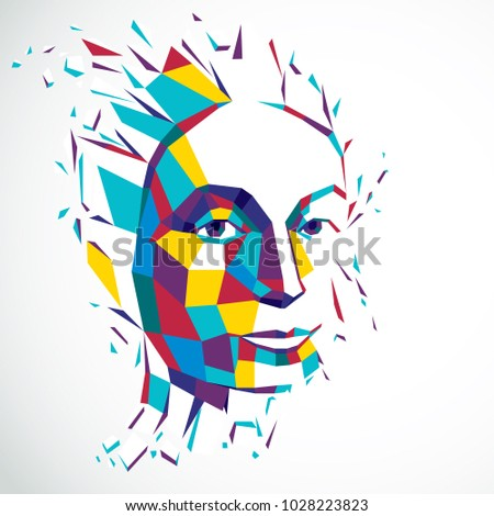 3d vector illustration of human