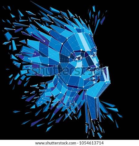 3d vector illustration of human