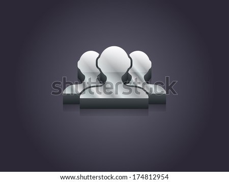 3d Vector illustration of  team icon