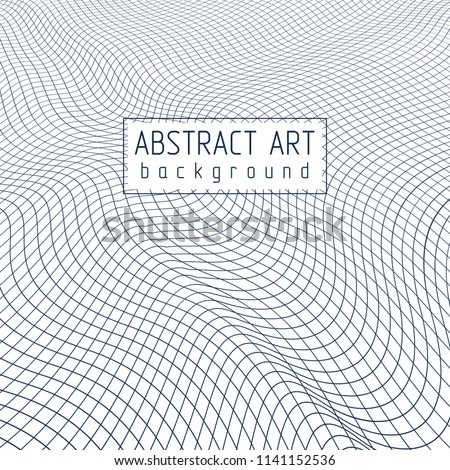 3d vector mesh abstract background, artistic trendy modern illustration of lattice surface.