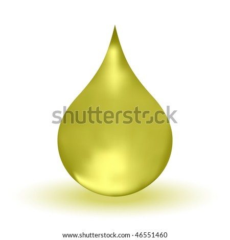 3D Vector Oil Drop