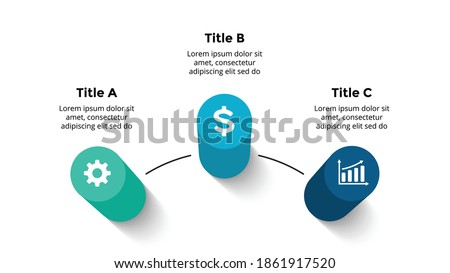 3D Vector Perspective Infographic. Presentation slide template. 3 step options. Chart concept. Colorful creative info graphic design. Photo stock ©