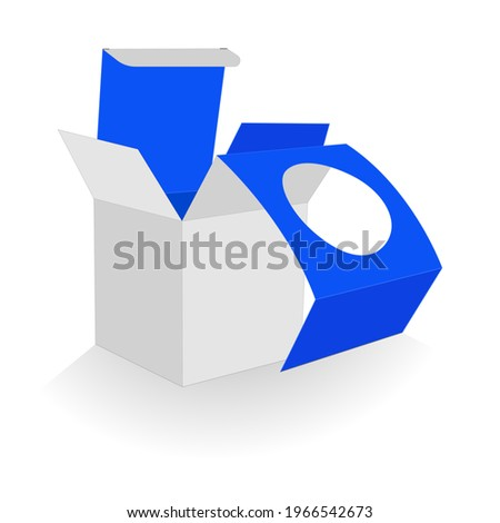 3d vector render box white