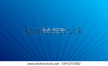 3D Vector Smooth Perspective Lines Deep Blue Abstract Background. Empty Blurred Surface Minimalist Illustration. Futuristic Technology Wide Wallpaper. Cyan Clear Blank Business Presentation Backdrop Stock photo ©