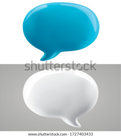 3d vector talking cloud, 3D illustration of speech bubble. Glossy talking cloud bubble high quality vector. Shiny cloud foam vector.