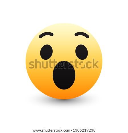 3d vector wow emoticon icon