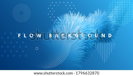 3d Wave Shapes. Flow Banner. Blue Dynamic Concept. Liquid Futuristic Poster. Abstract Movement. 3d Wave Shapes. Modern Graphic Flyer. Vector Creative Wallpaper. Fluid Music 3d Wave Shapes.