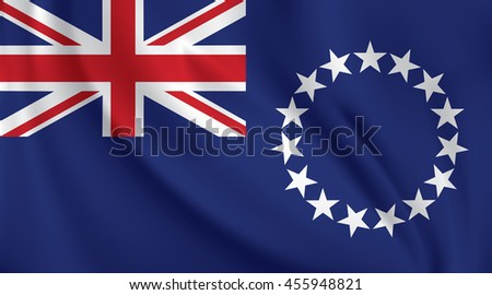 3d waving flag of cook island