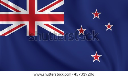 3d waving flag of new zealand