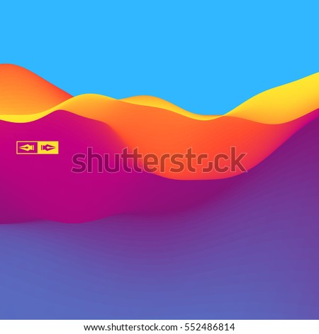 3D Wavy Background. Dynamic Effect. Abstract Vector Illustration. Design Template. Modern Pattern. - Shutterstock ID 552486814