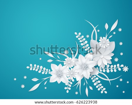3d white paper craft flowers