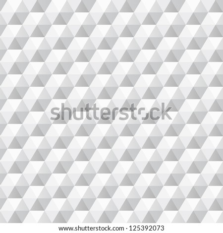 3d white texture, geometric seamless, vector. Urban theme design. Seamless abstract background can be used for web, wallpaper, surface textures. - stock vector