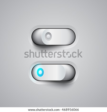 3d white toggle switcher on