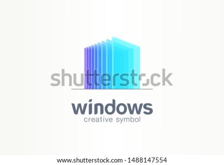 3d windows  glass creative