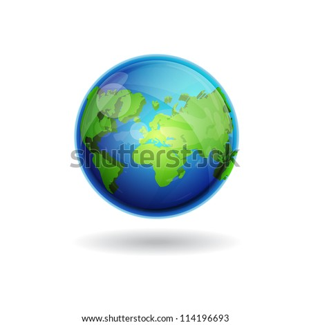 3d World Globe Map Vector Icon