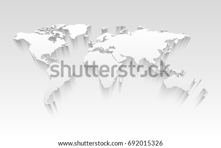 Free vector world map with shadows download free vector art 3d world map gumiabroncs Choice Image