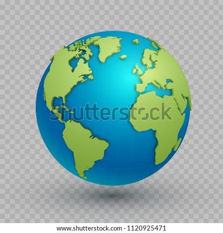 3d world map globe three