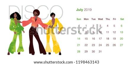 2019 dance calendar july man