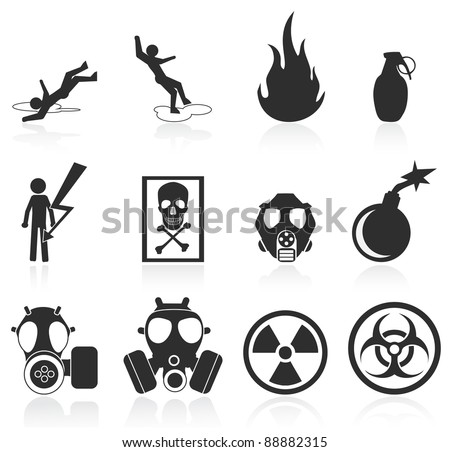 danger icons easy to edit and
