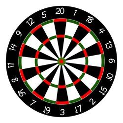 Dart board. Professional game design vector illustration