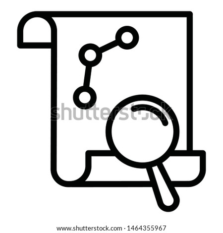 Data analysis, market analysis vector icon which can easily modify or edit