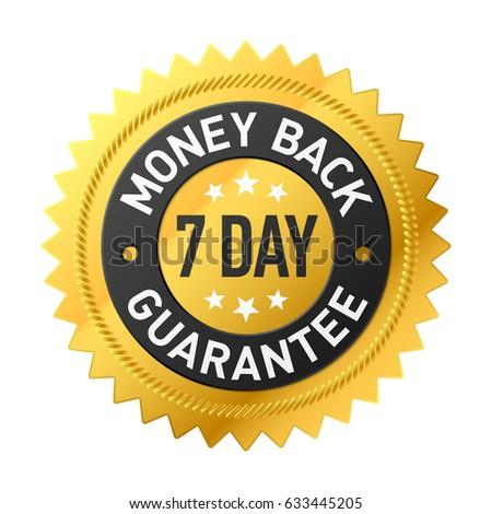 7 day money back guarantee label Stock foto ©