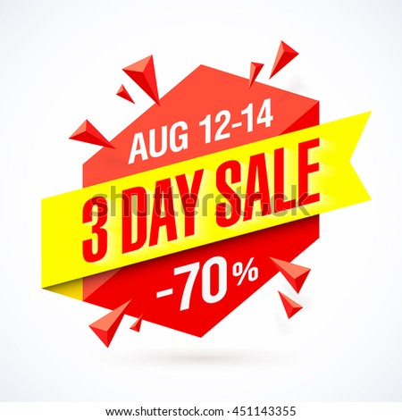 3 day sale poster  banner