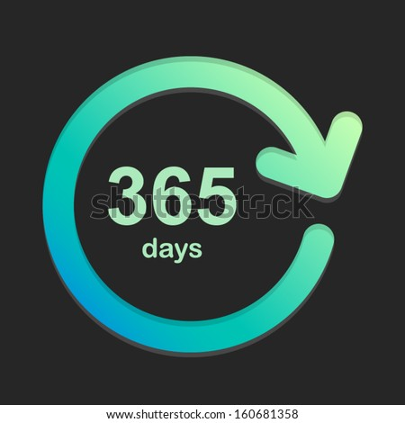 365 days green and dark background Vector Element