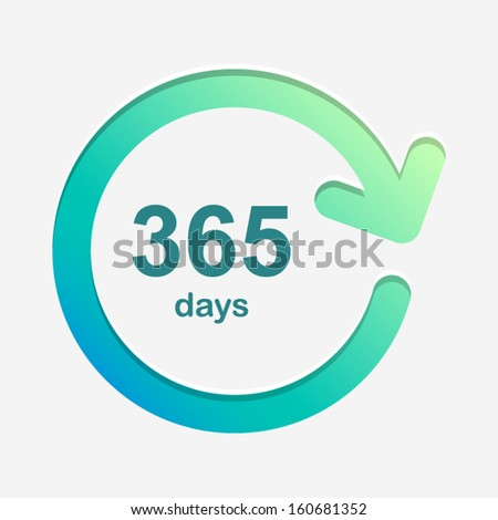 365days green and light background Vector Element