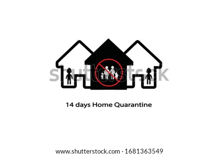 14 days home quarantine icon