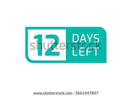 12 days left banner on white