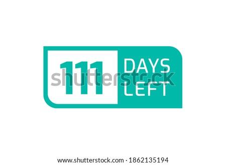 111 days left banner on white