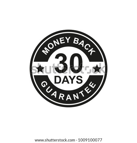 30 Days Money Back Guarantee Icon black Color
