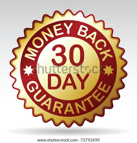 30 days money back guarantee label, vector EPS 8