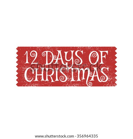 12 days of christmas vector sign