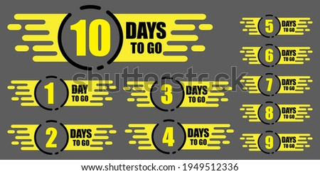 10 days to go. Promotion, special discount. Discount sale. Stock image. Vector illustration. EPS 10. stock photo