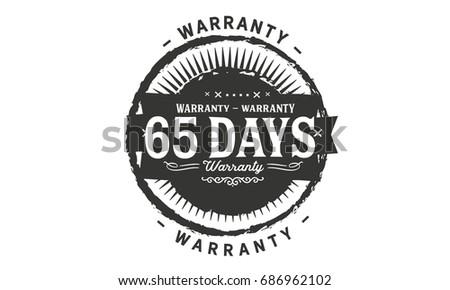 65 days warranty icon vintage rubber stamp guarantee #686962102
