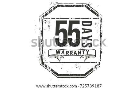 55 days warranty icon vintage...