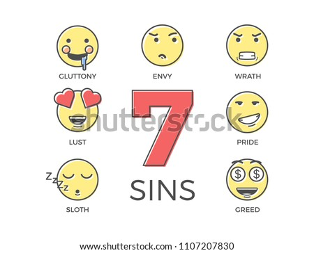 7 deadly sins represented by