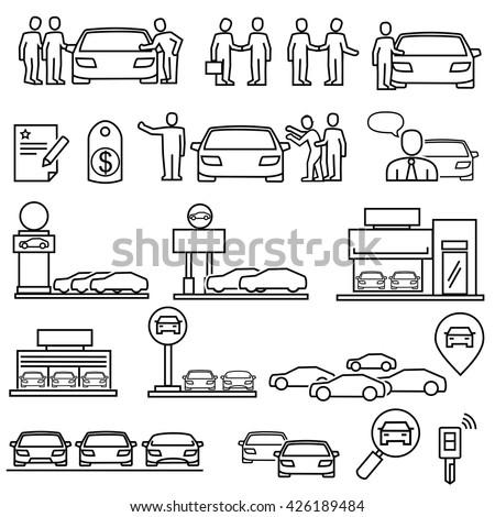 Dealership car  icons